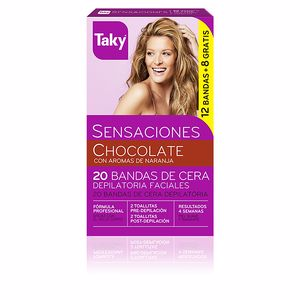 Hair removal wax CHOCOLATE bandas de cera depilatorias faciales Taky