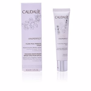 Acne Treatment Cream & blackhead removal VINOPERFECT fluide peau parfaite SPF20 Caudalie