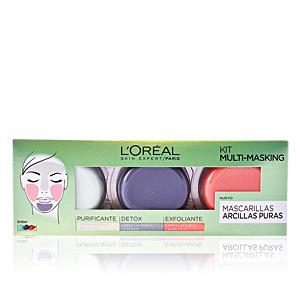 Set cosmética facial KIT MULTI-MASKING ARCILLAS PURAS L'Oréal París