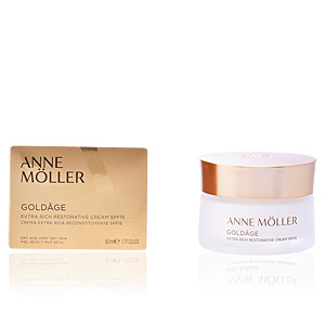Skin tightening & firming cream  GOLDÂGE extra rich restorative cream SPF15 Anne Möller