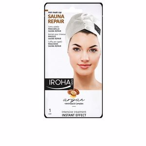 Mascarilla reparadora HAIR MASK CAP sauna repair argan Iroha