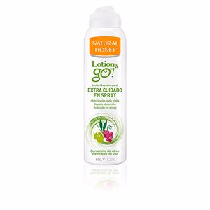Body moisturiser LOTION & GO! leche corporal extra cuidado en spray Natural Honey
