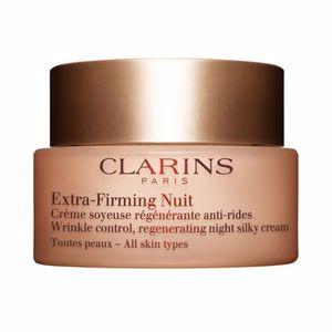 Tratamento para flacidez do rosto EXTRA FIRMING NUIT crème régénérante anti-rides Clarins