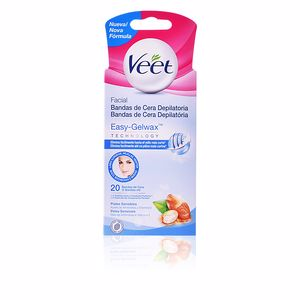 Hair removal wax BANDAS DE CERA depilatorias faciales piel sensible Veet