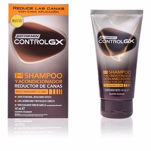 Shampoo per capelli colorati CONTROLGX champú 2en1 reductor canas Just For Men