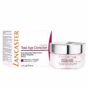 Hautstraffung & Straffungscreme  TOTAL AGE CORRECTION anti-aging rich day cream SPF15 Lancaster