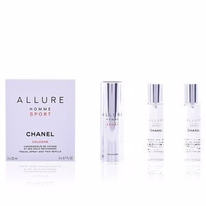 Chanel ALLURE HOMME SPORT COLOGNE travel spray 2 Refills perfume