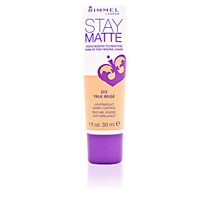 Base de maquillaje STAY MATTE liquid mousse foundation Rimmel London