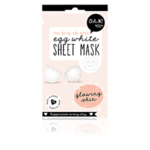 Mascarilla Facial SHEET FACE MASK egg white glowing skin Oh K!