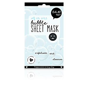 Masque pour le visage SHEET FACE MASK bubble exfoliate and cleanse Oh K!