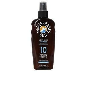 Corpo CARROT suntan oil dark tanning SPF10 Mediterraneo Sun